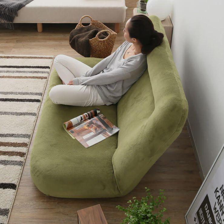 ふんわりかわいいワイド座椅子