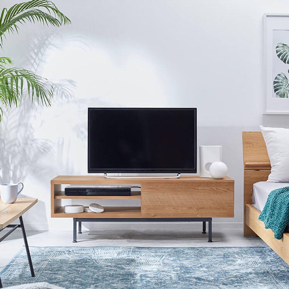 国産ローテレビ台 収納 引き出し 脚付き 木製 スチール [幅120]