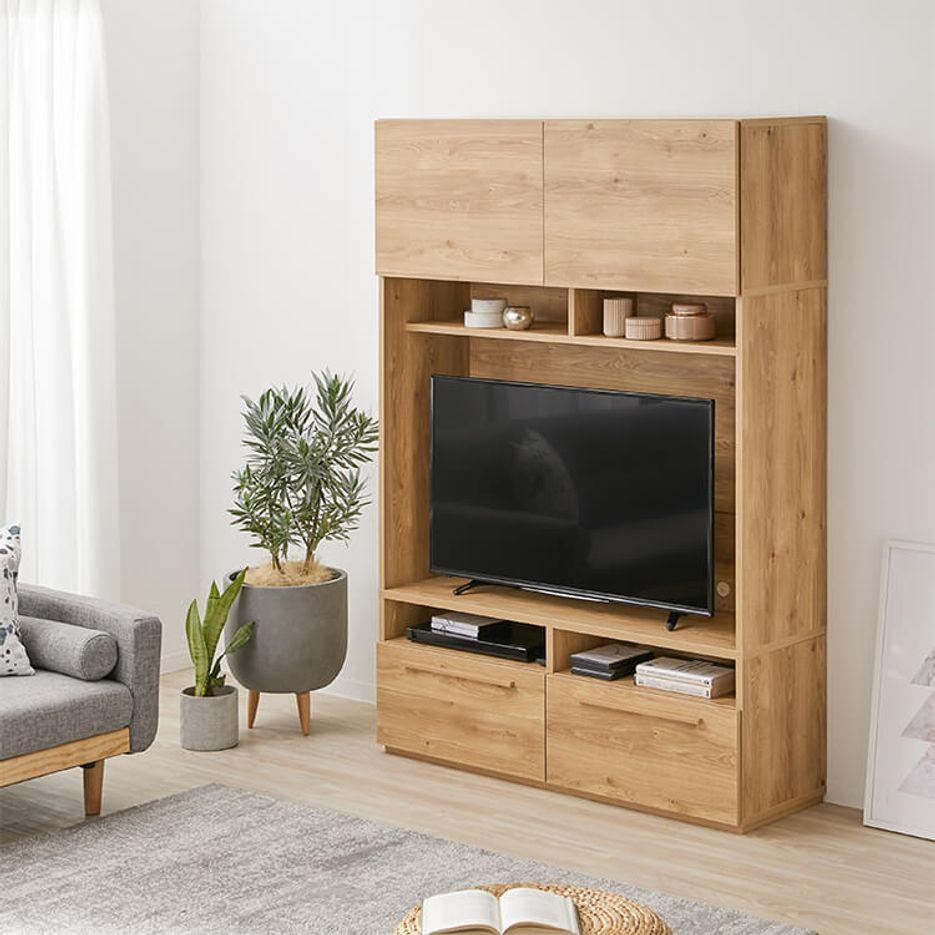 [幅180] 壁面収納 テレビ台 テレビボード ハイタイプ 収納 42インチ リビング 国産 木製 一人暮らし