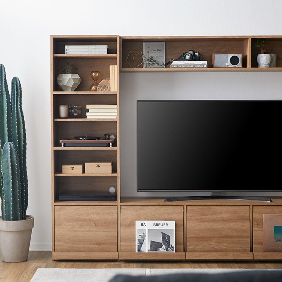 テレビ台 壁面収納 テレビ ハイタイプ テレビボード 65インチ TV台 木製 AVボード テレビラック 一体型 235 235cm テレワーク 在宅