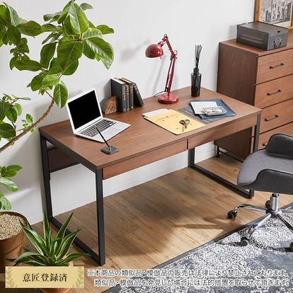 ヴィンテージ風でおしゃれな木製パソコン・ワークデスク(ブラウン)[幅 ...
