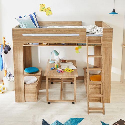 テーブルセット付きロフトベッド