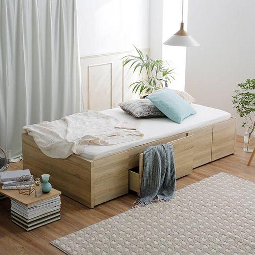 LOWYA「ヘッドレス収納ベッド」