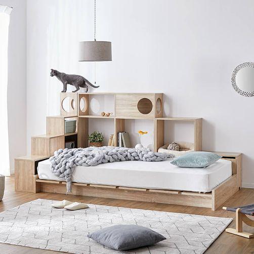 キャットウォーク付きベッド